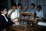 Rangoon, students in chemistry lab