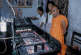 Mandalay, printing press in Buddhist monastery