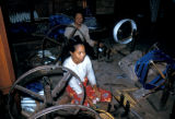 Mandalay, women spinning silk