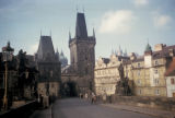 Prague, Charles Bridge with tower at Old Town entrance