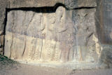 Persepolis, Naqsh-i Rustam, bas-relief depicting investiture of Narseh by Anahita