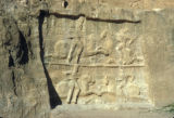 Persepolis, bas-relief depicting equestrian combat of King Bahram II