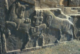 Persepolis, Palace of Darius, bas-relief with lion-bull combat