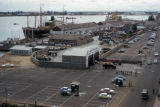 Lagos, panoramic view of waterfront warehouses