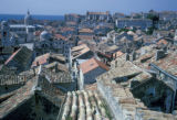 Dubrovnik, panoramic view of city rooftops