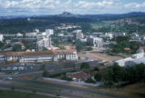 Kampala, aerial view of city