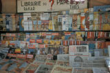 Dakar, magazine rack outside bookstore