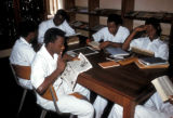 Lagos, college students in library
