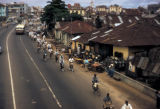 Lagos, view of city street and bicycle traffic