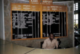 Kano, travel information desk at airport