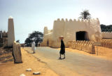 Kano, street scene with buildings in traditional Nigerian style