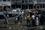 Abidjan, street scene in business district