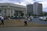 Nairobi, street scene with bank and high rise hotel