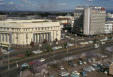 Nairobi, view of Government Road with National and Grindlays Bank and Ambassador Hotel visible