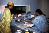 Ibadan, disc jockeys in radio studio