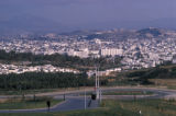 Tunis, panoramic view of city on hillside