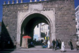 Tunis, ancient gate to medina and outdoor bazaars