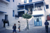 Sidi Bou Said, street scene near building