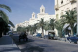 Sfax, commercial street with historic buildings