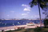 Dar es Salaam, view of boats in harbor