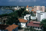 Dar es Salaam, view of downtown buildings and waterfront