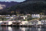 Queenstown, waterfront with Southern Alps in background