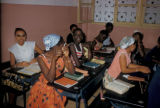 Dakar, high school girls in classroom