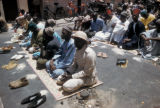 Dakar, Muslims at Friday prayer