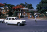 Lusaka, directing traffic in front of government headquarters
