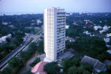 Kinshasa, view of residential high-rise building