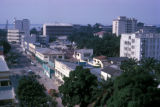 Kinshasa, city street with Congo river in background