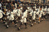 Kinshasa, school boys in parade on Independence Day