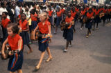 Kinshasa, school girls in parade on Independence Day