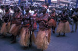 Kinshasa, women in tribal dress  in Independence Day parade