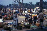 Kinshasa, colorful outdoor market