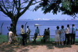 Brazzaville, view across Congo River towards Kinshasa