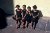 Zanzibar, portrait of four girls