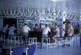 Mombasa, patrons and bartender in Mombassa Beach Hotel lounge