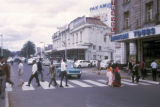 Nairobi, pedestrians at crosswalk