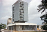 Abidjan, high-rise bank building