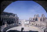 El Jemm, view of colosseum showing interior seating