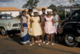 Accra, college students posing