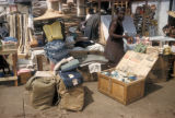 Accra, vendors selling goods at outdoor Kumasi market