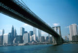 New York, Manhattan, Brooklyn Bridge and Lower Manhattan skyline