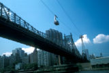 New York, Manhattan, Queensboro Bridge and cable car to Roosevelt Island