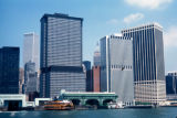 New York, Manhattan, Lower Manhattan skyline and Staten Island Ferry Terminal