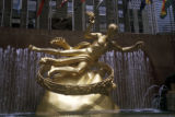 "New York, Manhattan, Paul Manship's, ""Prometheus"" at Rockefeller Center"