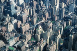 New York, Manhattan, view of Manhattan rooftops