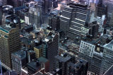 New York, Manhattan, clustered high rises