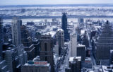 New York, Manhattan, Midtown skyscrapers in winter